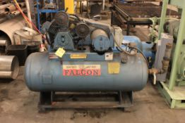 Feldman 5 HP Air Compressor, 80 Gallon Horizontal Tank, Model HTA80, S/N F33976, w/ Extra 80