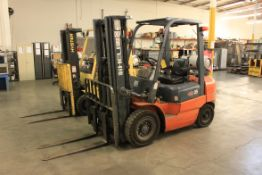 (2012) Heli 4,600 Lb. Cap. Propane Forklift, H2000 Series Model CPYD25-TY5, Side Shift, Meter