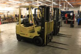 Hyster 5,000 Lb. Cap. Propane Forklift, Model S50XM, Side Shift, Meter Read (Unverified): 5,595