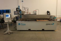 (2013) Flow Mach 2 2031b CNC Waterjet Cutting Machine, 2m x 3.1m Table, 3,024 Hours, FlowMaster 7.