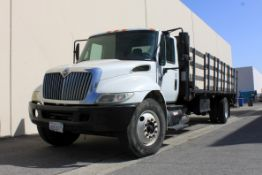 (2007) International SBA 4X2 Day Cab 26' Stake Bed Truck, Odometer Read (Unverified): 262,288