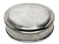 DoseWohl deutsch, 18. Jh.Silber. Ovale Dose mit leicht gewölbtem Stülpdeckel.Marken
