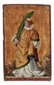 Kleines gotisches Tafelbild mit der Darstellung des heiligen StephanusDeutscher Meister des 16.