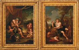 Trevisani, FrancescoPendants mit Jahreszeitenallegorien(Capodistria 1656-1746 Rom) Junger Mann mit