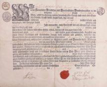 Lehrbrief der BäckerzunftSonnenburg (Brandenburg), 1776Gedrucktes Formular mit handschriftlichen