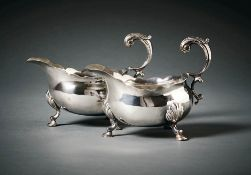 Paar Georgianische SauceboatsLondon, 1793/94William Shaw & William Priest (gemeinsam tätig