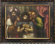 Italienischer Meister des fr. 17. JahrhundertsEcce HomoÖl/Lwd., doubl. 76,5 x 101 cm. - Das Werk ist