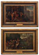 Zwei Szenen aus der JosefsgeschichteNiederländische Schule des 17. Jahrhunderts1) Josef wird von