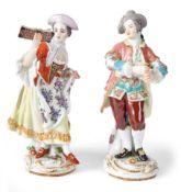 Sängerin und Flötenspieler aus der Galanten KapelleMeissen, 20. Jh.Modell von Johann Joachim Kändler