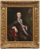 Netscher, Constantijn (Attrib.)Bildnis eines Herren im eleganten Morgenrock(Den Haag 1668-1723 ebd.)