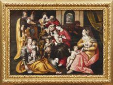 Vos, Marten de - UmkreisDie Heilige Sippe(Antwerpen 1532-1603 ebd.) Dargestellt ist die Familie