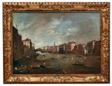Guardi, Francesco (Attrib.) oder NachfolgerAnsicht von Venedig mit Blick auf den Canal Grande und