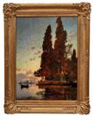 Corrodi, Hermann David Salomon (Attrib.)Insel vor Venedig im Abendlicht(Frascati 1844-1905 Rom)