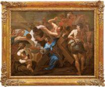 Veronika reicht Jesus das SchweißtuchBologneser Meister des 17. JahrhundertsVielfigurige Darstellung