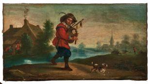Teniers, David - NachfolgeDudelsackspieler mit HundNiederlande, 17./18. Jh. Holländische