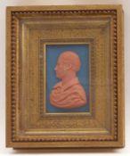 Hettler, CarlWachsbossierung(1818-1844 tätig) Profildarstellung eines Mannes. Rote