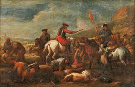 Parrocel, Joseph (Attrib.)Bataillenszene(Brignoles 1646-1704 Paris) Öl/Lwd. Rücks. von alter Hand