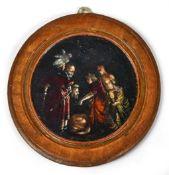 Goudt, Hendrick (Attrib.)Kleines Tondo: Salome empfängt das Haupt Johannes des Täufers(Den Haag um
