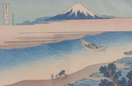 Katsushika HokusaiDer Tama Fluss in der Provinz Musashi(Honjo 1760-1849 Asakusa) Farbholzschnitt,