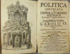 Hilleprand, GerardPolitica Austriaca in imperatoribus AustriacisEorumque Virtutibus adumbrata, ac in
