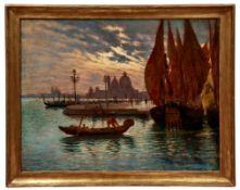 Ciardi, Beppe (Attrib.)Blick auf die Lagune von Venedig in der Abenddämmerung(Venedig 1875-1932