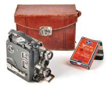 Kinokamera Modell D im LedergehäuseSiemens & Halske AG, Berlin - 193616-mm-Filmkamera mit