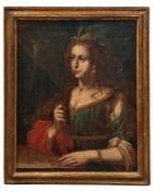 Portrait einer jungen Dame als Allegorie der Avaritia oder VanitasItalien, 17.
