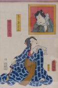 Utagawa Kunisada (Toyokuni III.)Schönheit mit Pfeife (Bijin)(Katsushika 1786-1865 Edo)