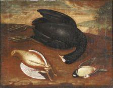 Hamilton, Philipp Ferdinand - in der Art desPaar Jagdstillleben18. Jh. Jeweils erlegte Sing- und