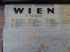 Schulwandkarte Wien 1:12.500Wien, Kartographische Anstalt Freytag-Berndt u. Artaria, um 1920Links