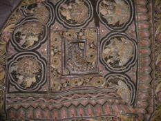 WandbehangThailand, 20. Jh.Hochrechteckige Form, mittig acht Bildfelder mit szenischen