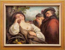 Maggiotto, Domenico Fedeli (Attrib.) oder NachfolgerLandschaft mit unter einem Baum schlafenden