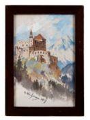 Burg in den Tiroler Bergen
