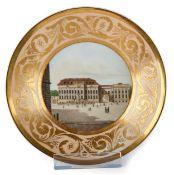 Kleiner Ansichtenteller mit dem Kronprinzenpalais in Berlin