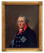 Friedrich II. mit dem Bruststern des Schwarzen Adlerordens