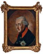 Friedrich der Große im Uniformrock mit dem Bruststern des Schwarzen Adlerordens