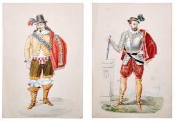 Französischer Edelmann und Musketier
