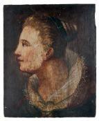 Bildnis einer Dame im Profil