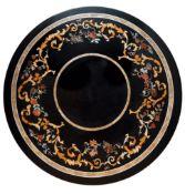 Salontisch mit großer Pietra-Dura-Platte