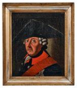 Friedrich II. mit Dreispitz und dem Schwarzen Adlerorden