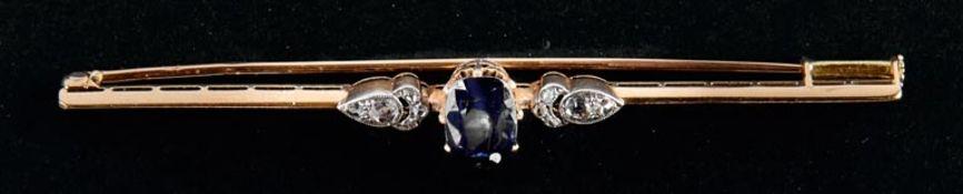 Zarte Saphir-Diamant-Stabbrosche