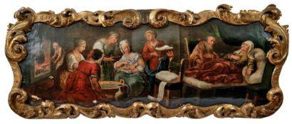Supraporte mit der Geburt Mariens