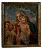 Madonna mit Kind, dem Johannesknaben und einem Engel