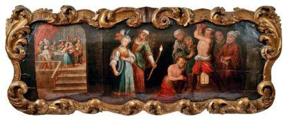 Supraporte mit der Enthauptung Johannes des Täufers