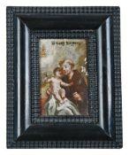 Kleines Votivbild mit dem heiligen Antonius von Padua und dem Jesuskind