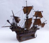 Modell eines englischen Schiffes