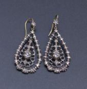 Paar Diamant-Ohrhänger