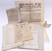 Konvolut von 19 Urkunden und Mitteilungsblättern