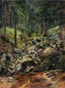 Franz August Schubert, Sächsische Waldlandschaft mit Bachlauf. 19th cent.<