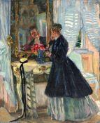 """Ferdinand Dorsch """"Am Spiegel"""". 1910er- 1920's."""